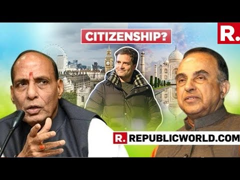 ACCESSED: This Is Dr Subramanian Swamy's Letter To Home Minister Rajnath Singh | #RahulCitizenship