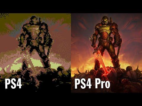 Doom Eternal — PS4 Pro vs PS4 сравнение графики