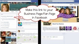 Linking Facebook Business Page / Fan Page from your Personal Profile