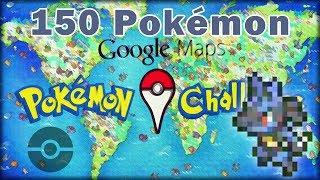 Google Maps Pokémon Challenge - Ubicación de los 150 pokémon / Locations of all pokémon Free HD Video