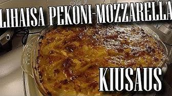 Lihaisa pekoni-mozzarella kiusaus