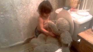 She is potty training her elephant