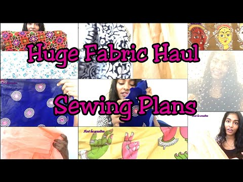 Fabric Haul & sewing plans|Designing Anarkali, Lehenga,Tops|Asvi|India