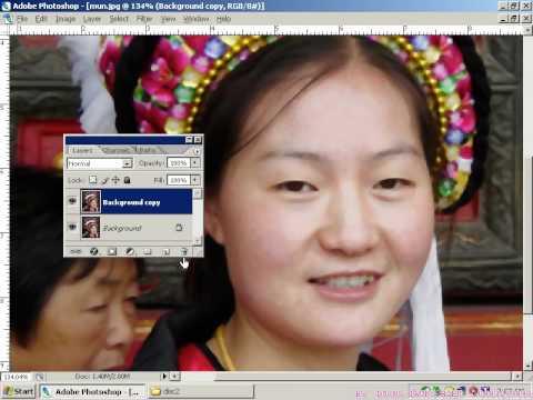 Photoshop CS2 - Phần 7 - Bài 4 - Tẩy mụn, tàn nhang