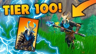 WIN SOLO WITH TIER 100 SKIN!! -Dansk Fortnite