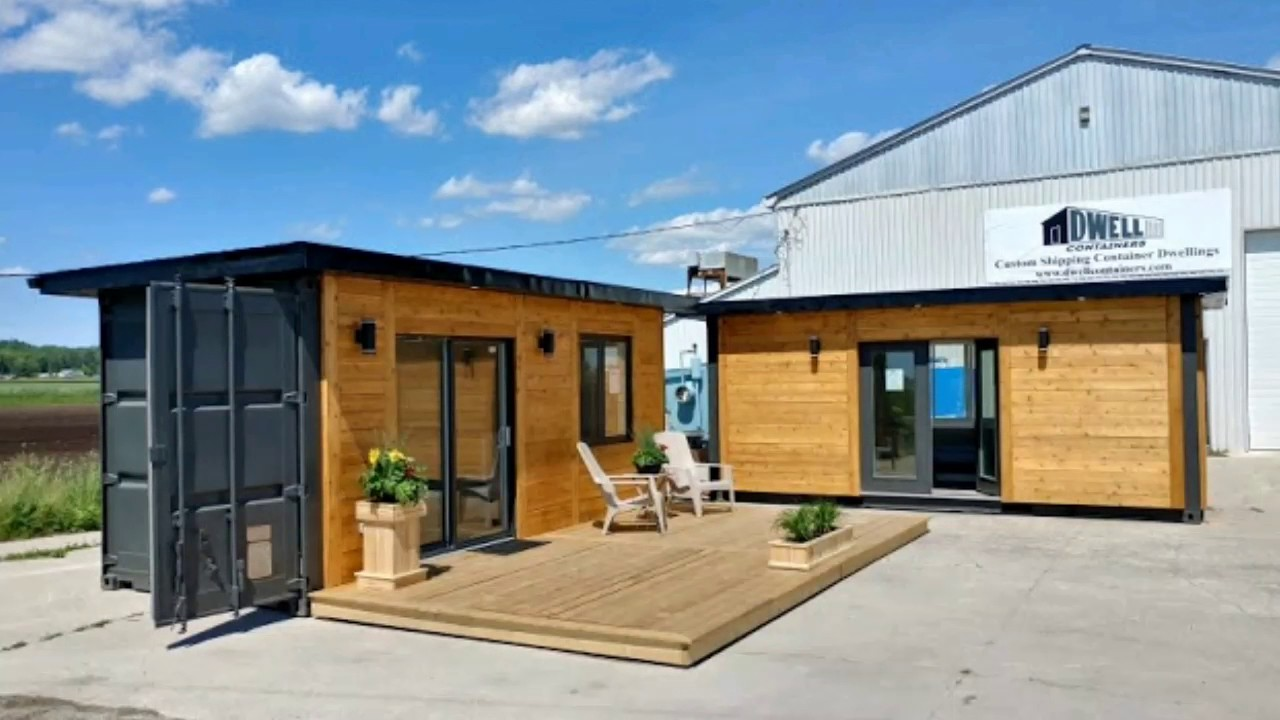 Unbelievable 160 Sq Ft Shipping Container Office / Studio | Container Home  Design Ideas