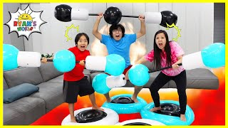 The floor is Lava Inflatable Don't Fall Off Challenge!!!