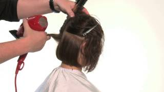 видео урок по базовой сушке волос феном