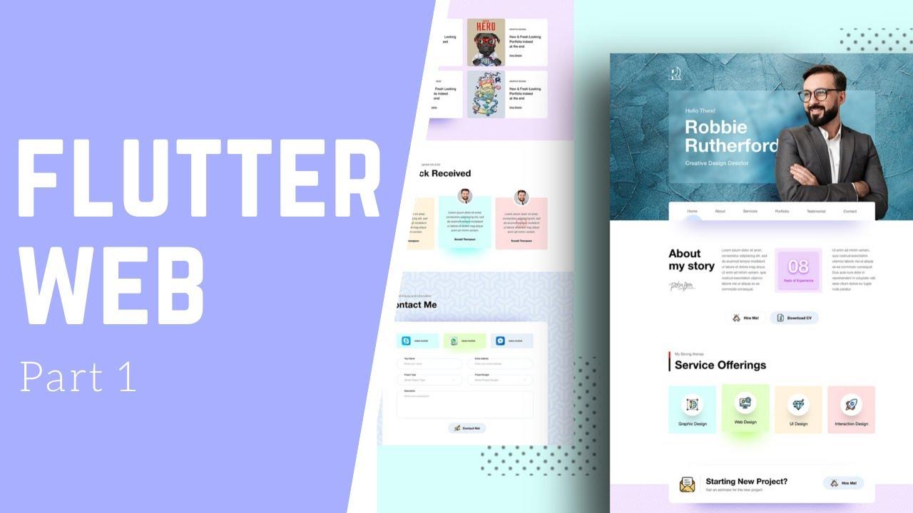 Create A Portfolio Website Using Futter - Flutter Web - Speed Code