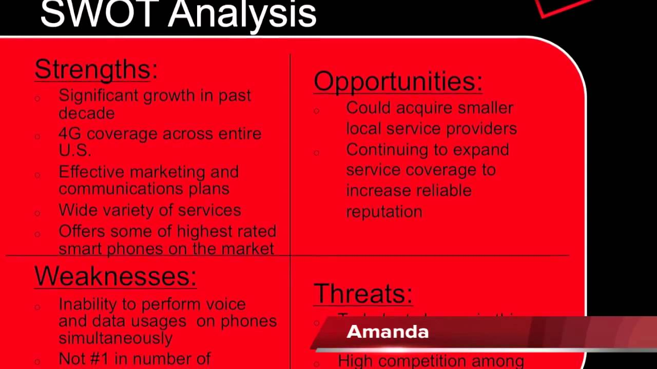 analysis of verizon communications A verizon office building in great neck, new york in 2012 a swot analysis of verizon communications, inc reveals the importance of competition, diversification, and global expansion in the telecommunications industry, partly through the services of verizon wireless.
