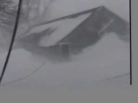 Extreme Prairie Blizzard Whiteout with Hurricane Force Wind Gusts in Tundra Conditions