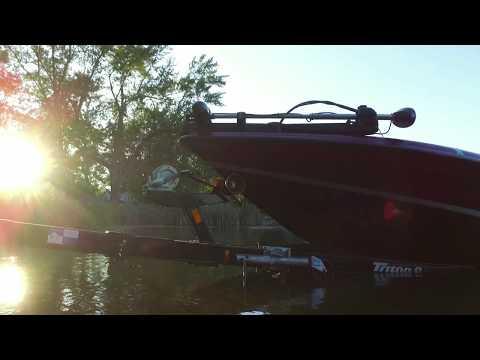 Bass Fishing On Long Lake, Portage, Michigan