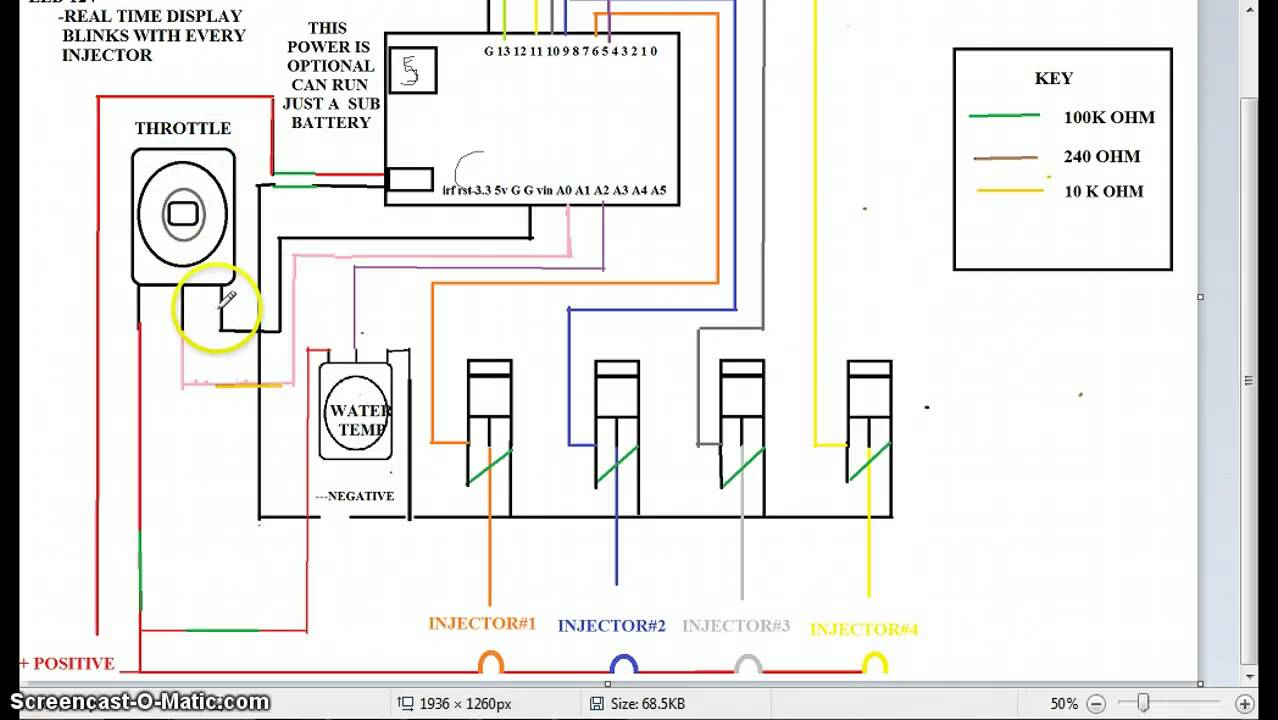 Fuel Injection Curcuit Diagram With 4 Injector Using Arduino