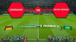 PES 2018 | Germany vs Saudi Arabia | International Friendlies | PC Gameplay