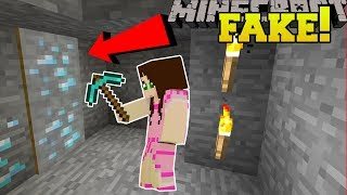 Minecraft: FAKE DIAMONDS SECRET ENTRANCE!!! - FIDGET SPINNER CRAFTERS - Custom Map [1]