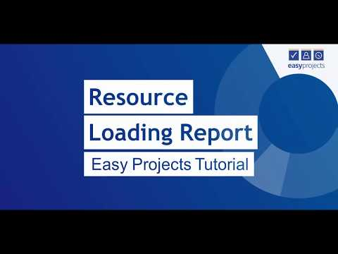 Resource Loading Report - Easy Projects Tutorial