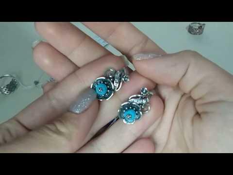 серебряные нежные украшения харьковский завод