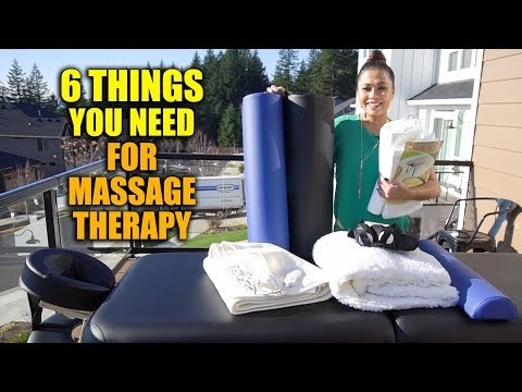 6 THINGS YOU NEED AS A MASSAGE THERAPIST | FULL MASSAGE PACKAGE