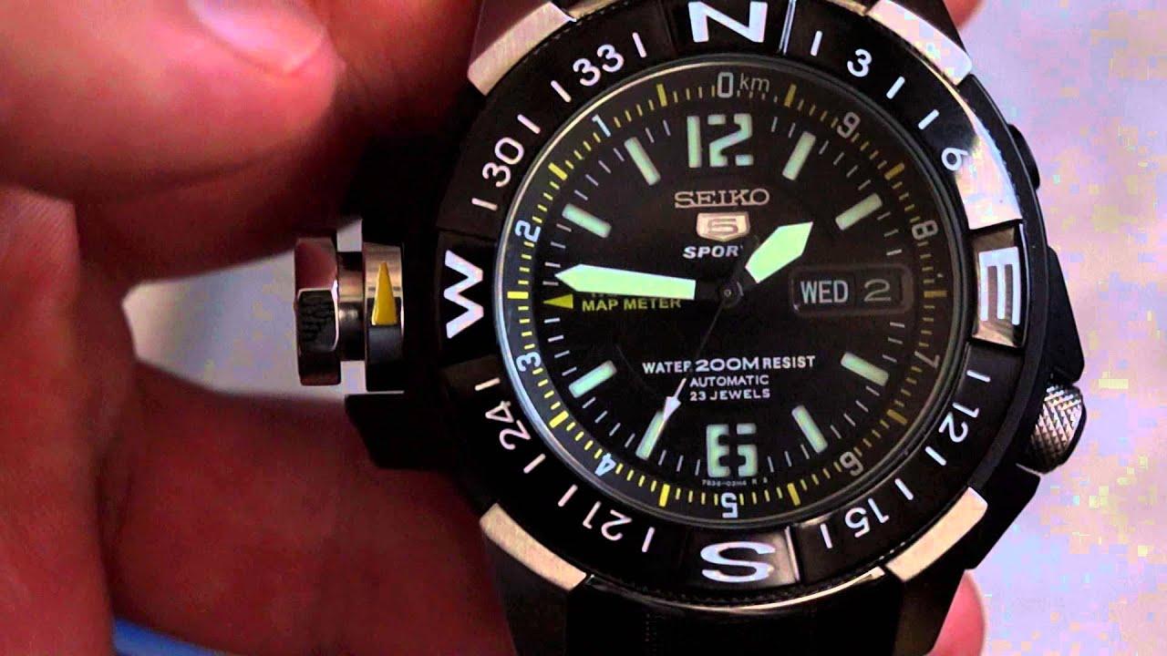 Rolex 24 Daytona >> Seiko 5 Sports SKZ231K1 Atlas GunMetal Full HD Video ...