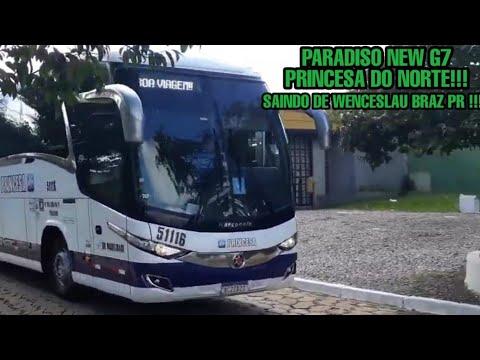 NEW G7 1200 PRINCESA DO NORTE SAINDO DA RODOVIÁRIA DE WENCESLAU BRAZ PR