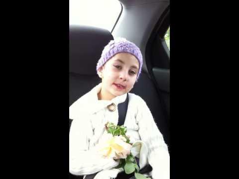 5.5 year old girl praying the Lord's prayer in Aramaic