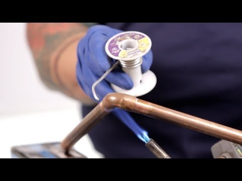 How to Solder a Pipe & Fix Water Lines | Basic Plumbing