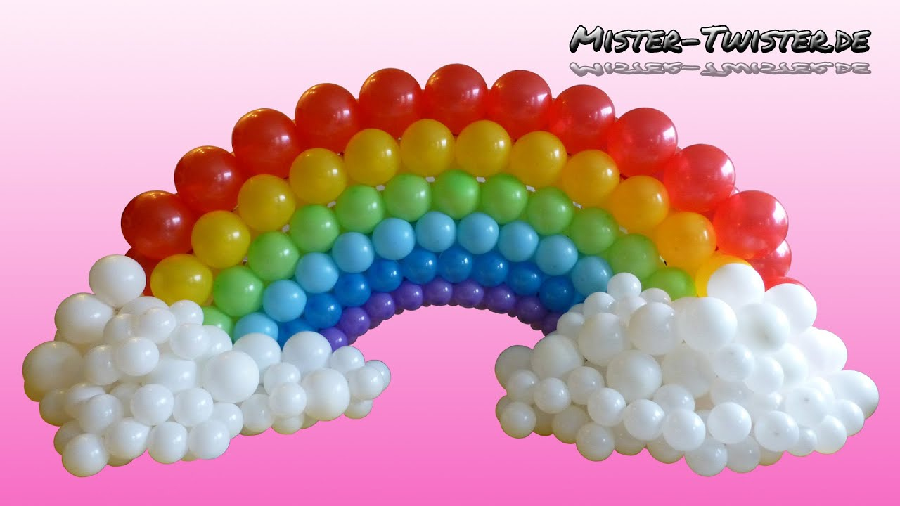 balloon rainbow decoration birthday ballon regenbogen