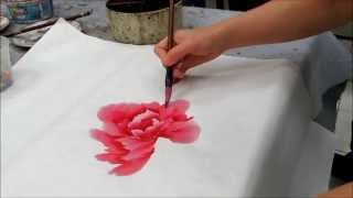 段琳示範國畫牡丹 Painting Demo by Linda Duan  (HD)