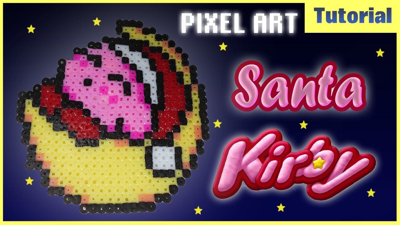 Speed Pixel Art ✰ Santa Kirby ✰ Perler Beads - YouTube