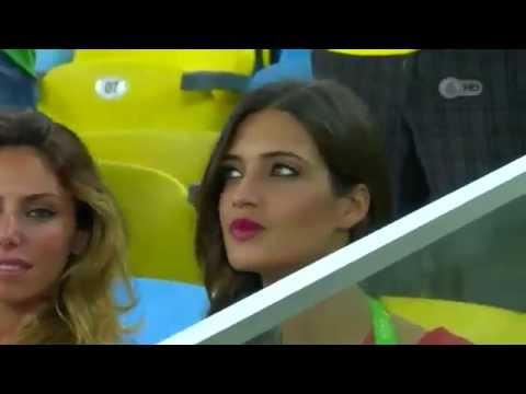 Sara Carbonero, novia de Iker Casillas en la final de la Copa Confederaciones 2013