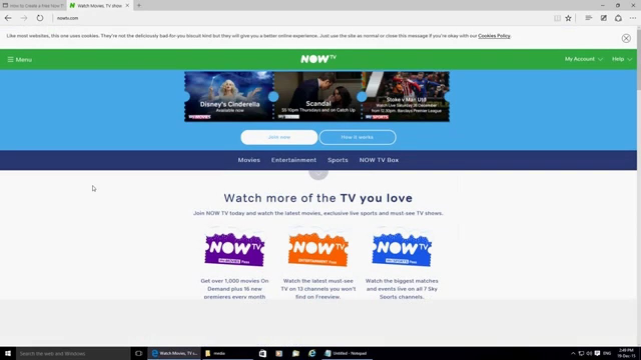 How to create a FREE Now TV account  NO PAYMENT DETAILS REQUIRED 2015