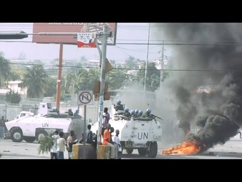 Protesto nas Eleições Haiti - election results in Port-au-Prince
