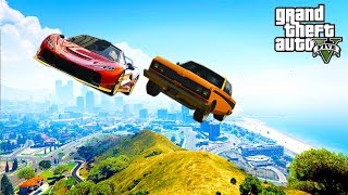 GTA V   EPIC Moments And Stunts You Never See Before