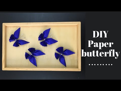 DIY-paper butterfly making/ paper butterfly tutorial step by step/ new wall decoration ideas