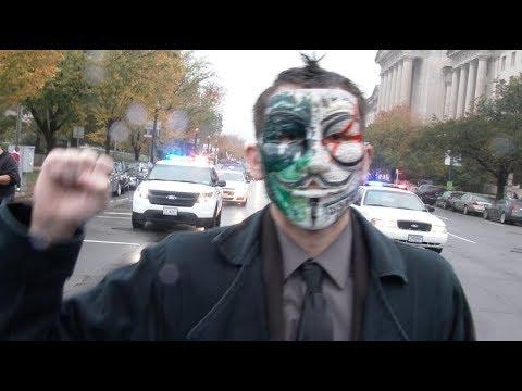 Washington DC 2017 Million Mask March - Raw Footage