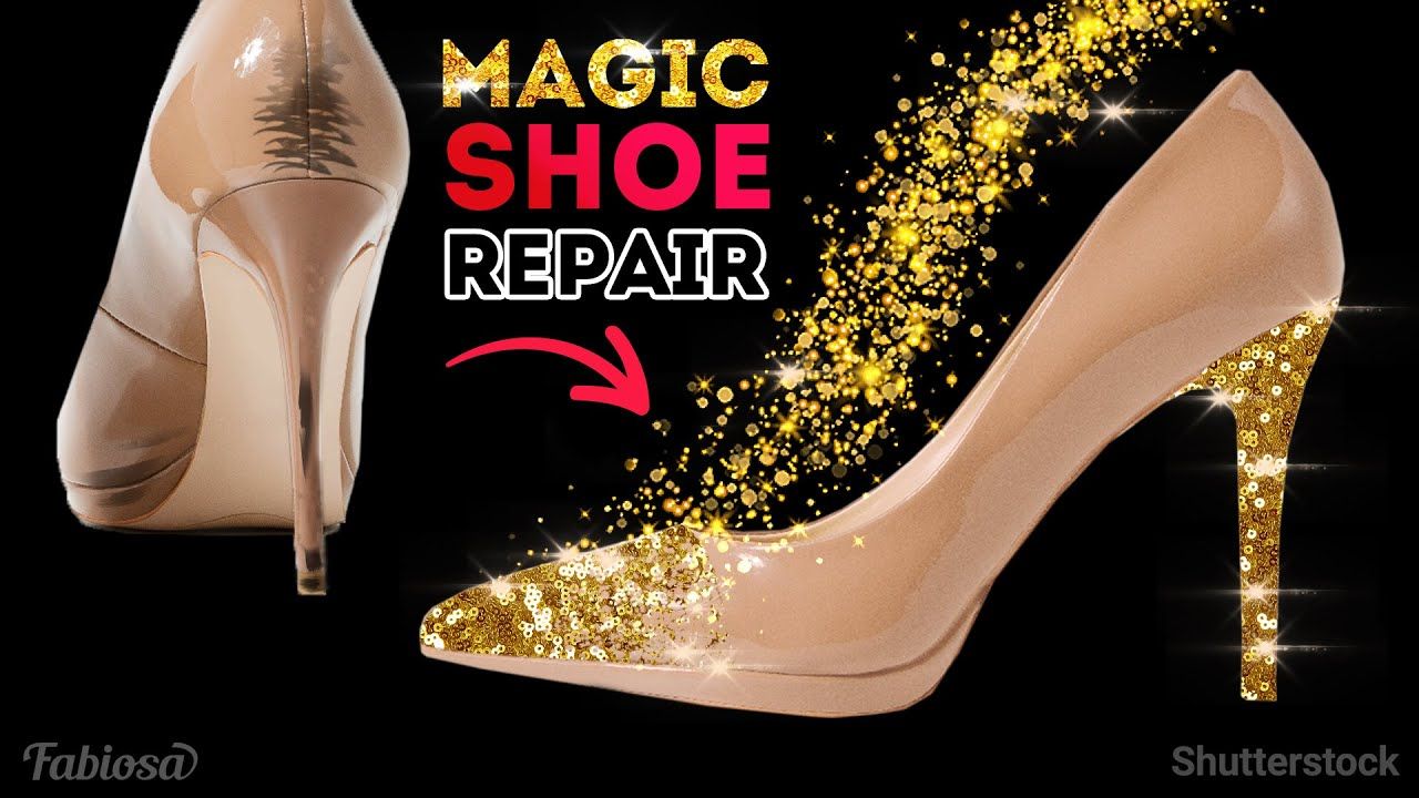 How to repair shoes at home    DIY transformation