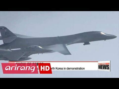 U.S. bombers fly farthest north of DMZ in show of force