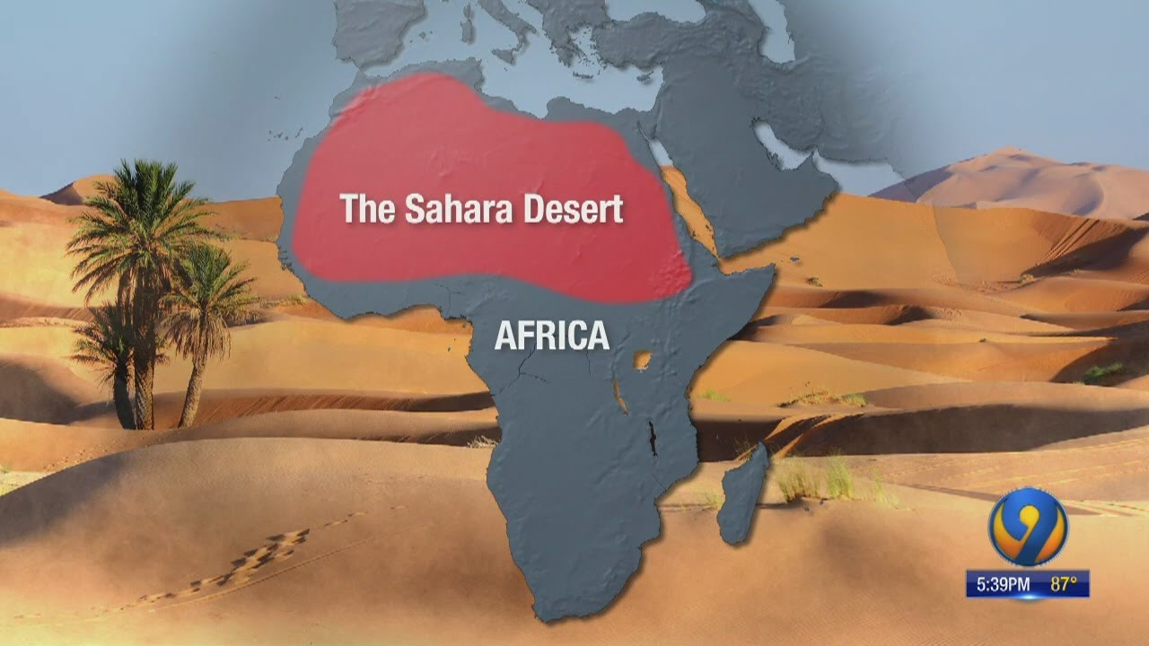 Sahara dust storm travels from Africa to the Gulf Coast