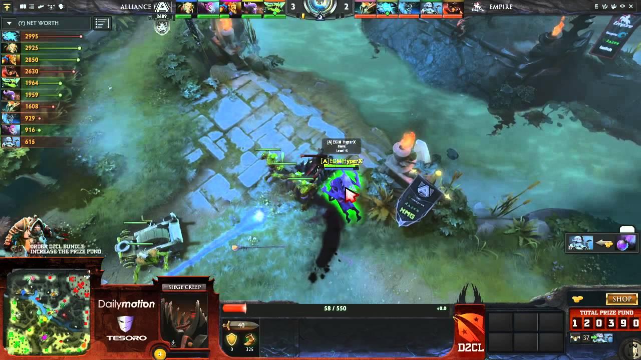 The Alliance Vs Team Empire Game 2 Dota 2 Champions League