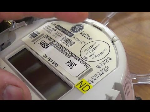 GE kV2ce 3 phase watthour meter without demand - YouTube