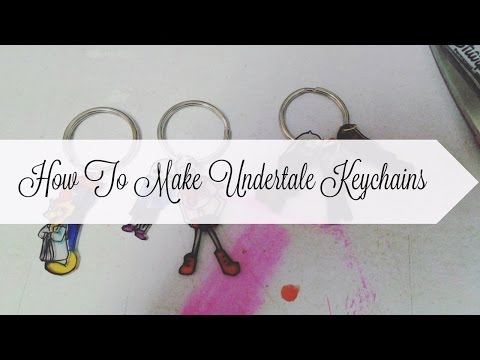 DIY: How To Make An Undertale Keychain :D  (Read The Desc For Questions Answered)