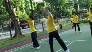 人协来我们的俱乐部录像我们练球的情形地点AMK Ave 3 bk 231 8-5-2010.