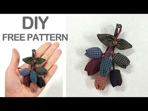 튤립 브롯지 퀼트키홀더 만들기 ㅡ Quilt  brooch  tutorial להורדה