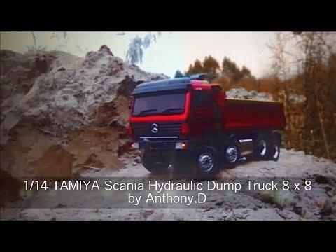 End Dump Truck >> 1/14 TAMIYA Hydraulic Dump truck 8x8 / RC Metal ...
