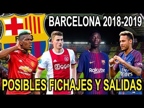BARCELONA FICHAJES Y SALIDAS POSIBLES 2018-2019   MERCADO DE INVIERNO