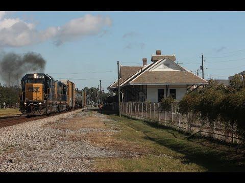 (HD) Railfanning Pascagoula, MS 10-11-2014