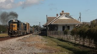(HD) Railfanning Pascagoula, MS 10-11-2014