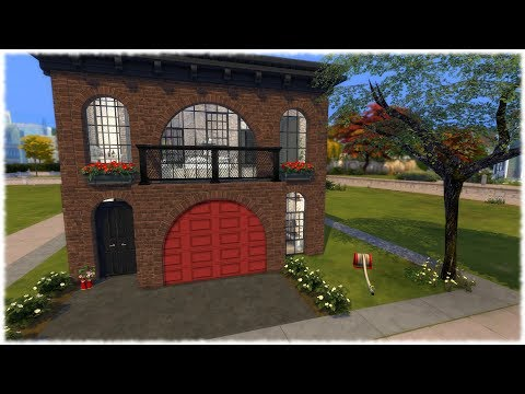 The Sims 4: Speed Build // CONVERTED FIRE HOUSE + CC LINKS