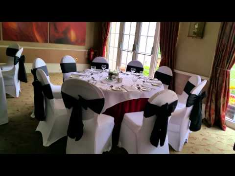 Wedding Chair Covers At The Willerby Manor Hull Black Taffeta And Lycra Covers