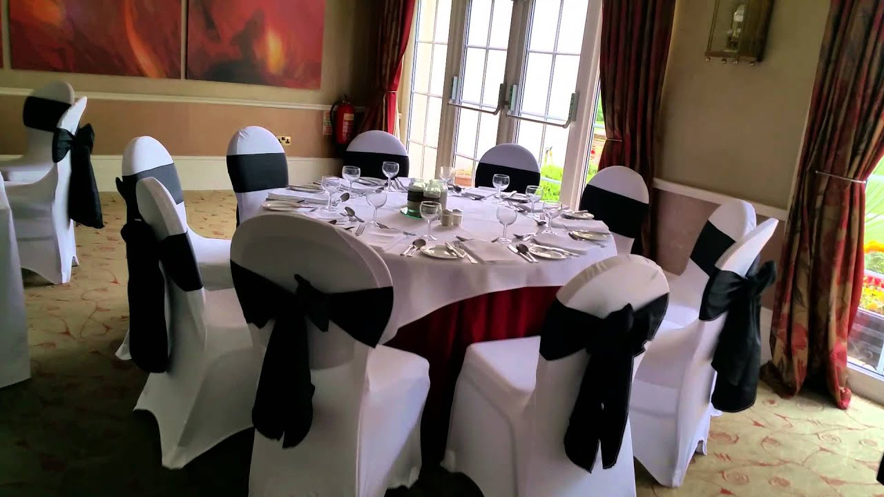 Chair Covers Wedding Hull Web Folding At The Willerby Manor Black Taffeta And Lycra